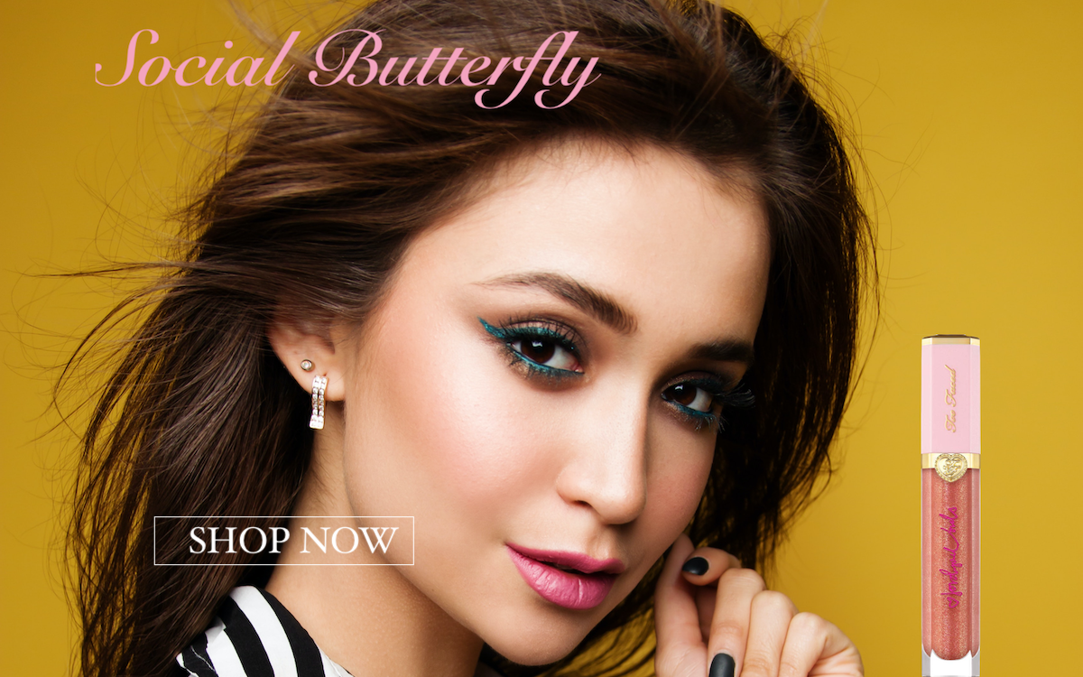 Social Butterly Lip Gloss  by Too Faced