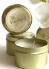 Kushed Candle Gold Travel Tin Cream Caramel - Single