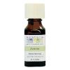 Aura Cacia Lemon Essential Oil 0.5 fl oz