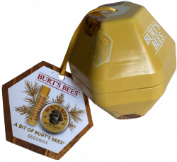 Bit of Burt's Bees Ornament Beeswax Lip Balm Holiday Tin