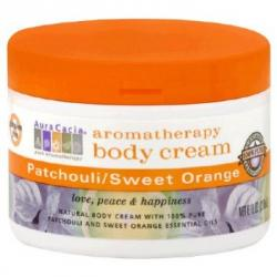 Aura Cacia Aromatherapy Patchouli and Sweet Orange Body Cream 8 fl oz