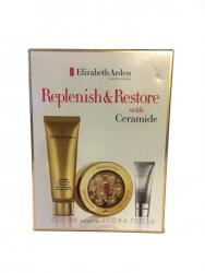 Elizabeth Arden Replenish & Restore Ceramide Skin Care Set for Face Neck and Eye Capsules